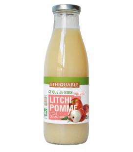 Pur jus de Litchi Pomme bio et équitable