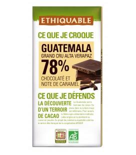 Chocolat Noir 78% Guatémala équitable & bio