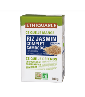 Riz Jasmin Complet du Cambodge bio & équitable