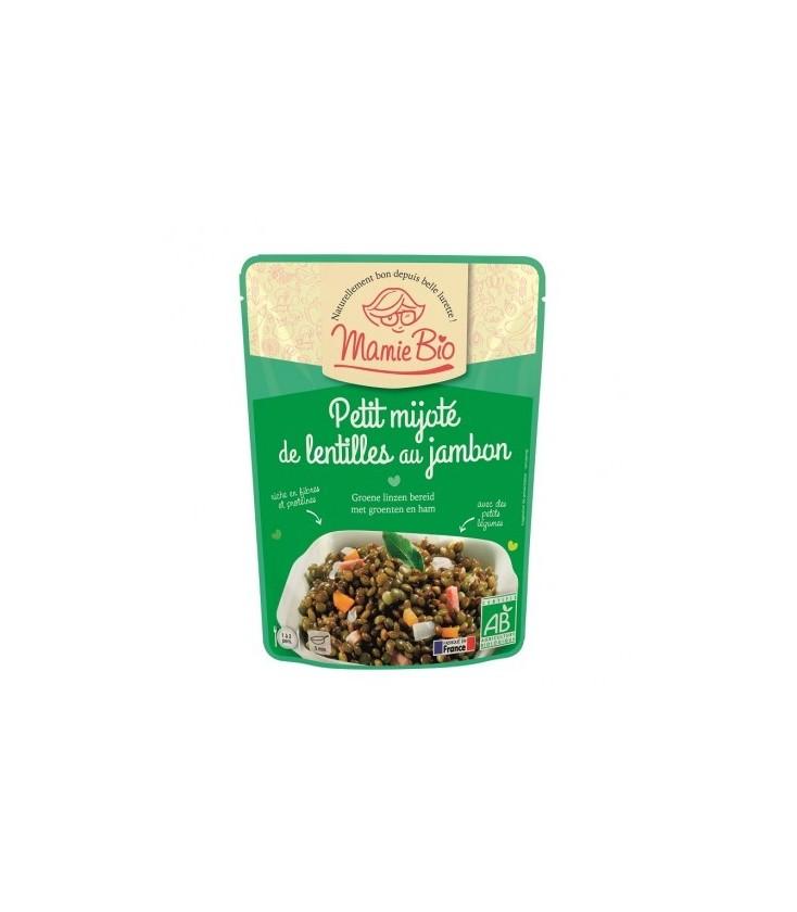 Petit mijoté de lentilles au jambon bio 250g