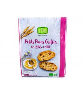 Petits Pains Grillés Miel & Raisins bio