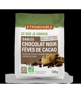 DATE PROCHE - Sablés Chocolat noir Fèves de Cacao bio & équitable