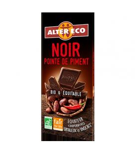 Chocolat NOIR Pointe de Piment bio et équitable