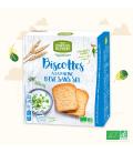 Biscottes à la farine bise sans sel et sans sucres ajoutés bio & vegan