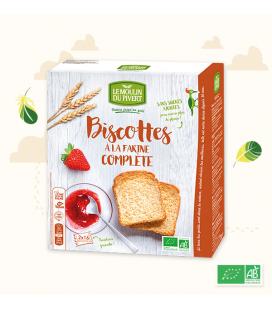 Biscottes à la farine complète bio et équitables