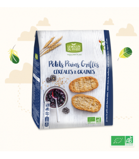 Petits Pains Grillés Céréales & Graines bio & vegan