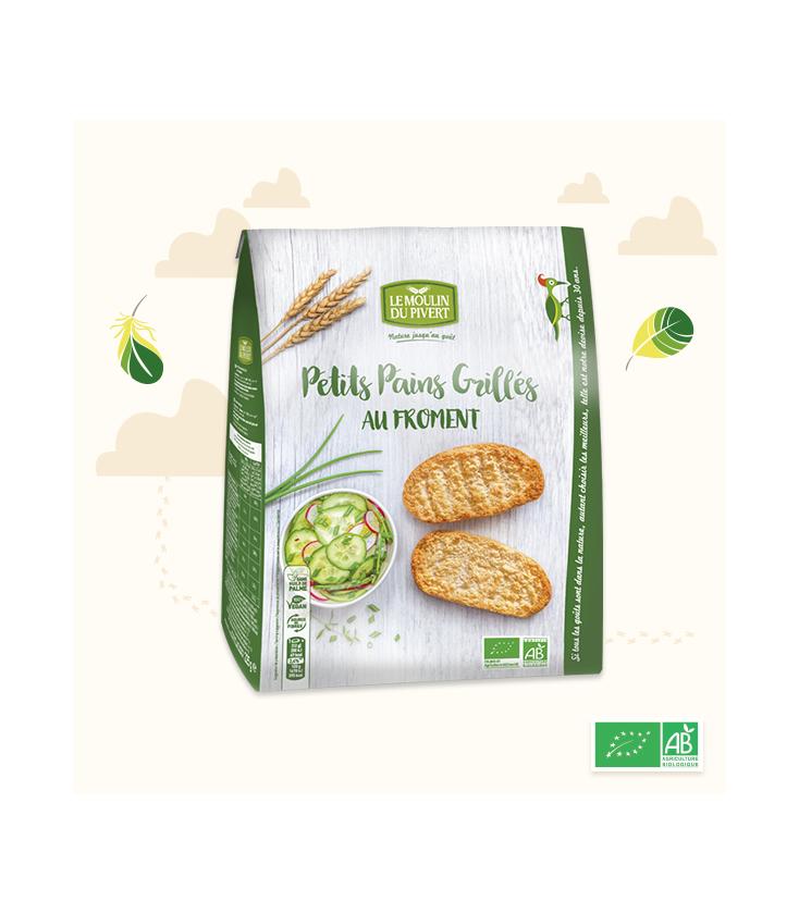 Petits Pains Grillés Froment bio & vegan