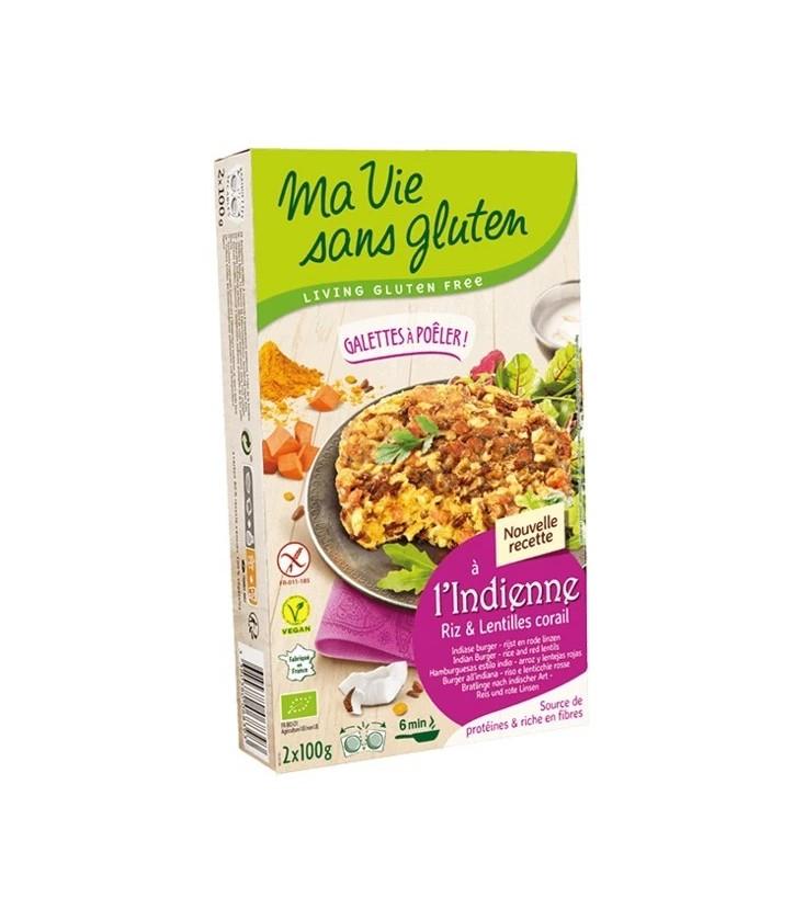 Galettes riz & lentilles corail bio & sans gluten