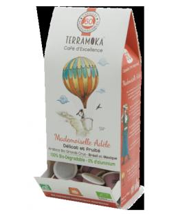 Capsules biodégradables de café bio ADELE x60