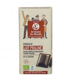 Chocolat noir bio & équitable aux amandes