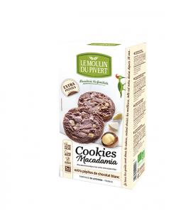 Cookies noix macadamia et pépites de cocolat blanc