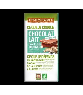 Chocolat au lait Pavot Lin Tournesol bio & équitable