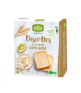 Biscottes à la farine d'épeautre bio & vegan