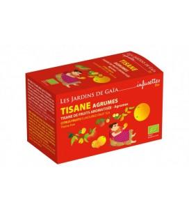 Tisane parfumée de fruits agrumes bio