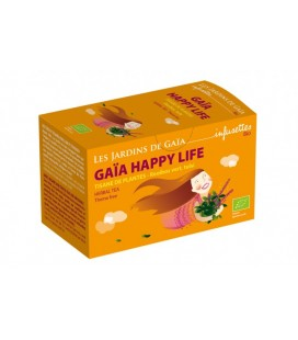Gaïa Happy life - Tisane de Plantes - Rooibos Vert, Tulsi bio