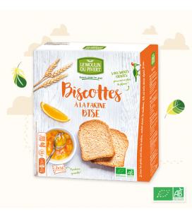 Biscottes Bise à l'Huile d'Olive 100 % VEGAN bio & vegan