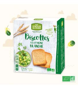 Biscottes Blanche à l'Huile d'Olive 100 % VEGAN bio & vegan