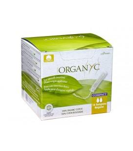 Tampon Régulier Compact avec Applicateur d'Origine Végétale - VEGAN