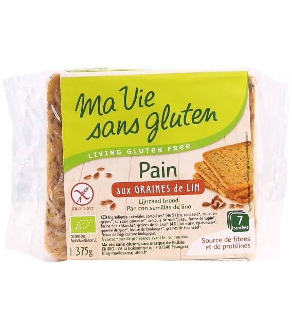 Pain Prétranché aux Graines de Lin bio & sans gluten