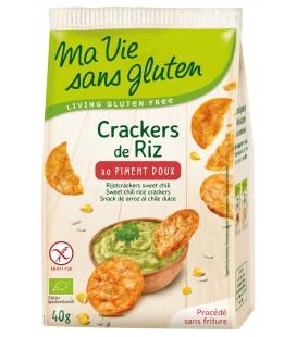 Crackers de Riz au Piment Doux bio & sans gluten