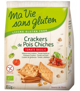 Crackers de Pois Chiches - Tomate Basilic bio & sans gluten