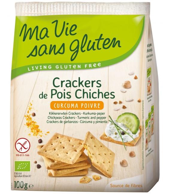 Crackers de Pois Chiches - Curcuma Poivre bio & sans gluten