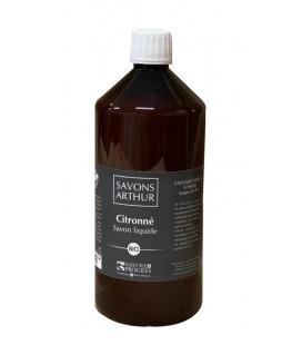 Savon liquide au citron avec pompe bio