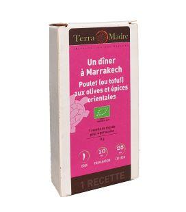 DATE DÉPASSÉE - Un dîner à Marrakech - Mélange d'épices bio pour Poulet (ou tofu!) aux olives et épices orientales