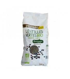 Lentilles vertes de Bourgogne bio & équitable