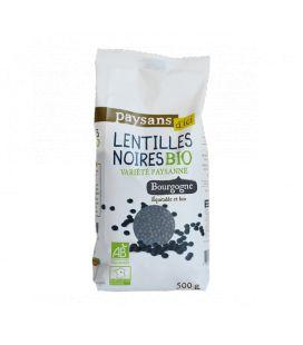 Lentilles noires Beluga ou Variété paysanne bio & équitable