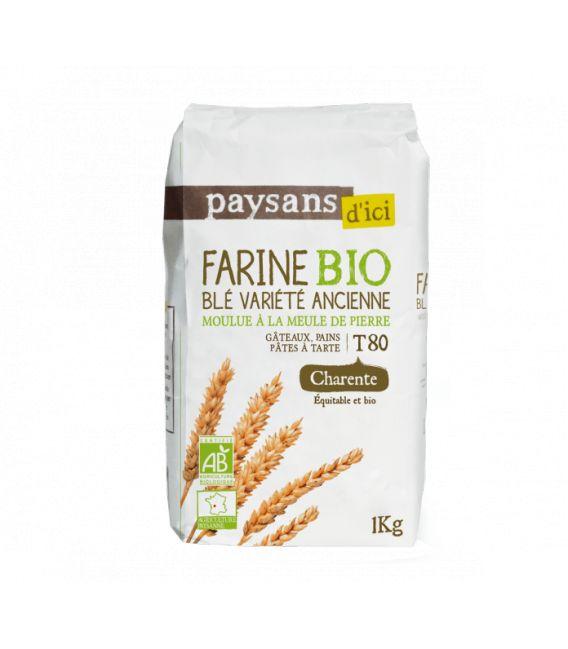 Farine de Blé Variété Ancienne T80 bio & équitable