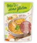 Soupe Repas Carottes, Panais & Sorgho bio & sans gluten