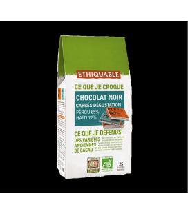 Chocolat Noir Carrés de dégustation bio & équitable
