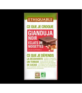 Gianduja Noir Eclats de Noisettes bio & équitable
