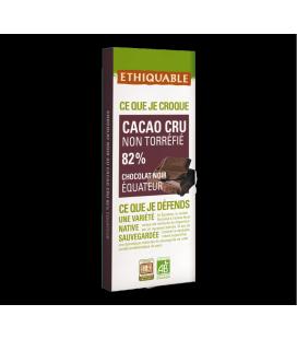 Cacao cru non torréfié 82% de cacao bio & équitable