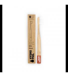 Brosse à dents en bambou pour enfants - Rouge