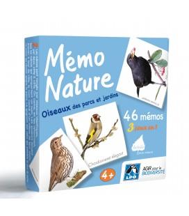 Mémo Nature oiseaux des parcs et jardins