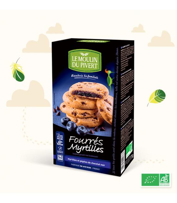 Fourré Myrtille Et pépites de chocolat noir bio & équitable