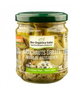 """Petits cœurs d'artichauts """"carciofotti"""" grillés à l'huile Bio et Vegan"""