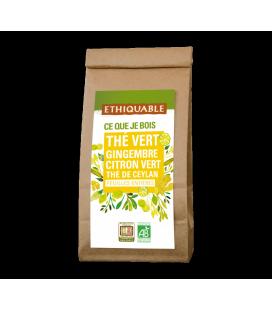Thé vert gingembre citron vert Thé de Ceylan bio et équitable