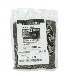 Sac de poivre noir du Kérala en grains 800 gr bio & équitable