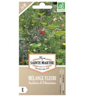 MÉLANGE FLEURI - Auxilliaires et Pollinisateurs AB - Semences reproductibles bio