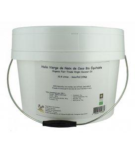 Huile vierge de noix de coco bio & équitable - Seau de 10 Kg (10,8 L)