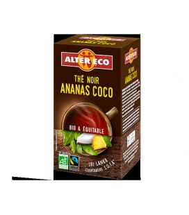 Thé noir ananas coco bio et équitable