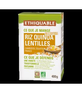 Riz - Quinoa - Lentilles corail et jaunes bio & équitable
