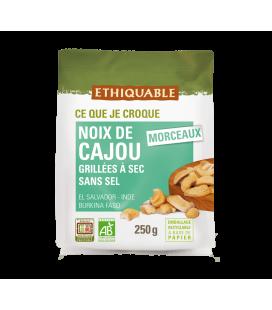 DATE PROCHE - Noix de Cajou grillées à sec SANS SEL bio & équitable