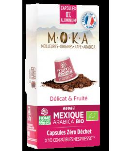 Capsules biodégradables de café Arabica Bio MEXIQUE x10