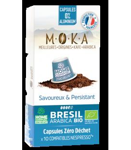 Capsules biodégradables de café Arabica Bio BRESIL x10