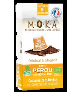 Capsules biodégradables de café Arabica Bio PEROU x10
