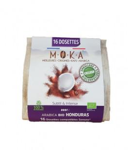 Dosettes biodégradables de café Arabica Bio HONDURAS x16